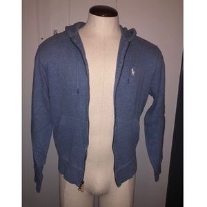 EUC RL light zip up hoodie